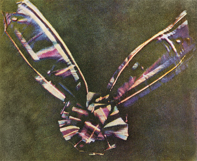 Primera fotografia en color. Maxwell 1861. Imatge Wikimedia Commons.