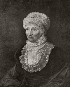Caroline Herschel, any 1829. Imatge Wikimedia Commons